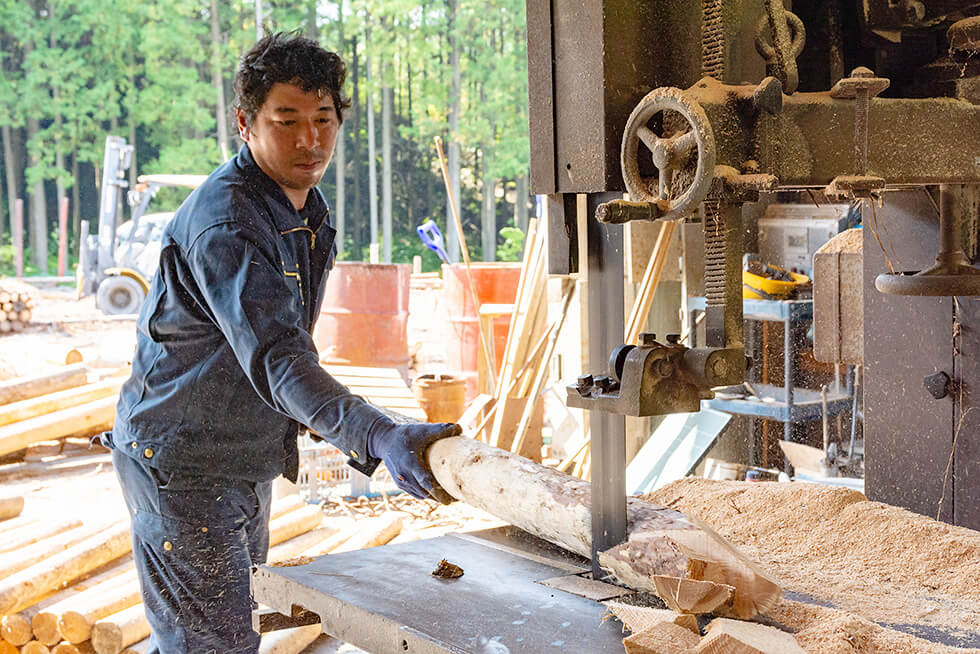 丸太杭の製造・販売